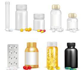 Vitamin pills icon vector