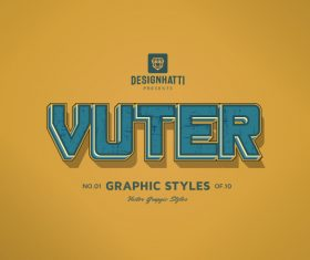 Vuter graphic styles text styles vector