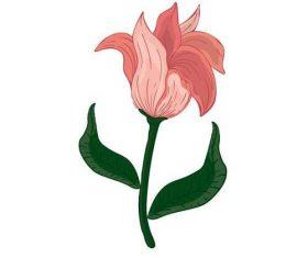 Watercolor painting flower vector