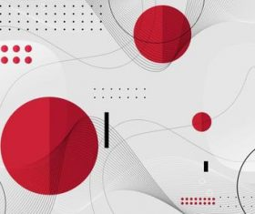 White and red 3d geometric vector background template design
