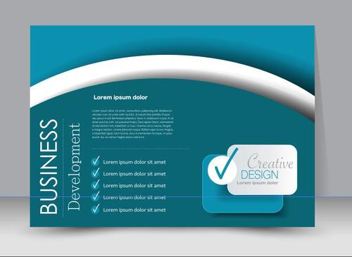 White arc style business advertising template vector