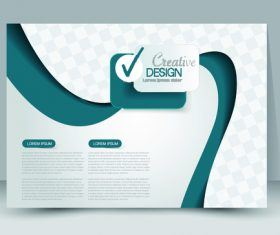 White business advertising template vector