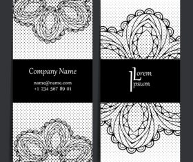 White floral pattern company business card vector