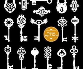 White keys locks set