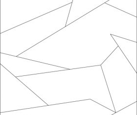 White rectangle puzzles vector