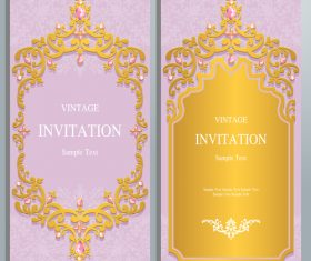 Yellow background invitation card vector