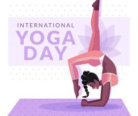 Yoga pose cartoon illustration vector