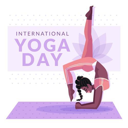 Yoga pose cartoon illustration vector