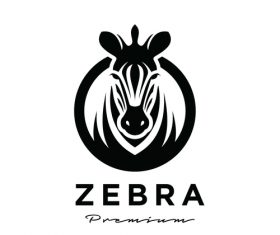 Zebra business logo design vector