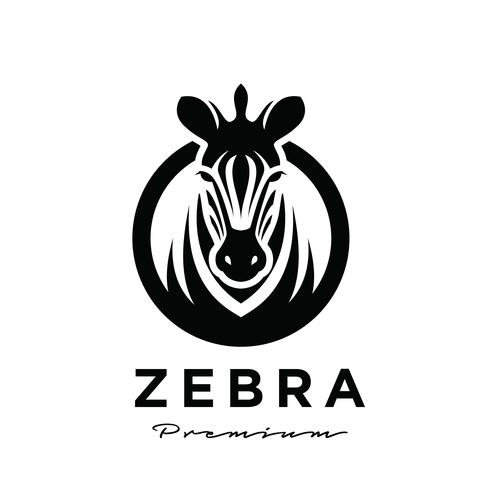 Zebra business logo design vector