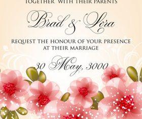 festive wedding invitation card vector