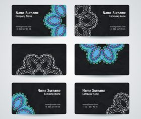 set of company business cards vector