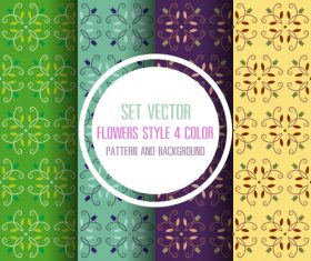 4 color pattern seamless background vector