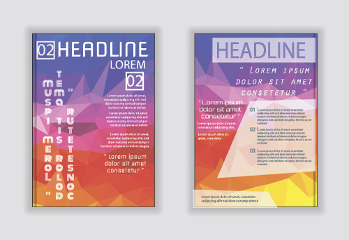A4 size brochure cover vector