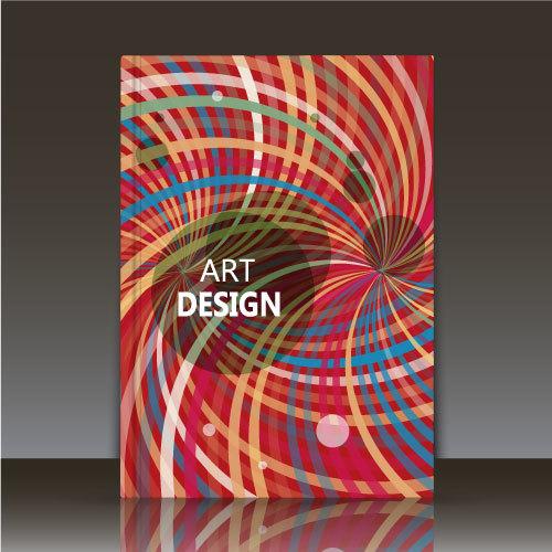 ART design brochure background vector