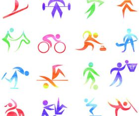 Abstract Icon set sport vector