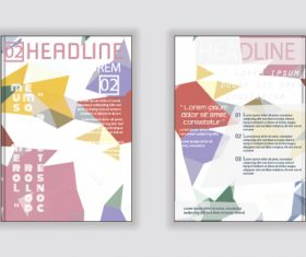 Abstract background layout brochure cover vector