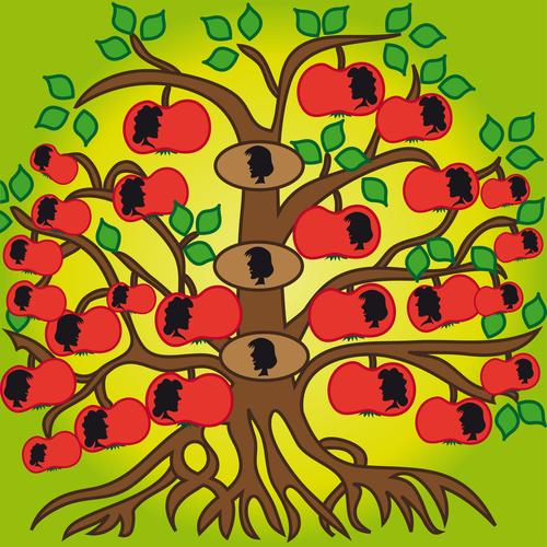 Abstract family tree vector