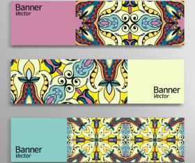 Abstract geometric header vector background