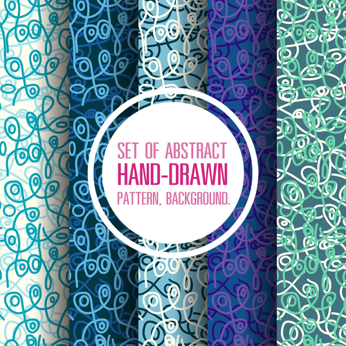 Abstract hand drawn seamless background vector