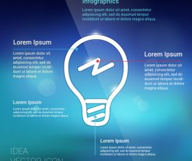 Abstract idea infographic vector