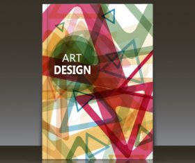 Abstract pattern brochure background vector
