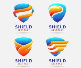 Abstract shield logo vector design