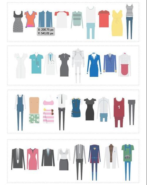 Adult clothes vector