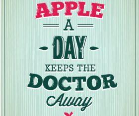 An apple a day card vector