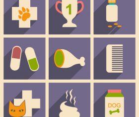 Animal hospital icon vector