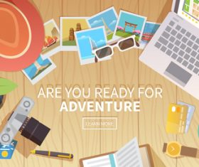 Are you ready for adventure vector