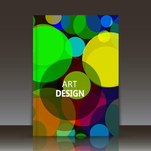 Art brochure background vector