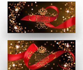 Art design invitation card vector