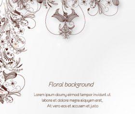 Artistic floral background vector