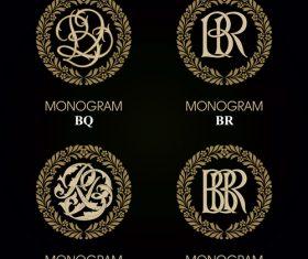 BQ monograms in vector