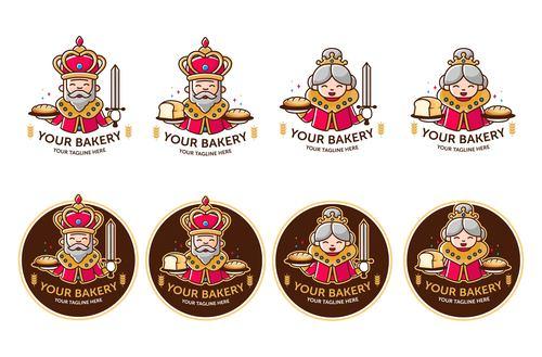 Bakery logo design vector