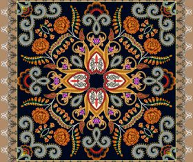 Bandanna with bright pattern vector