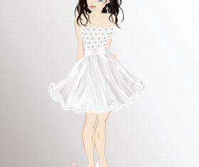 Beautiful bride vector