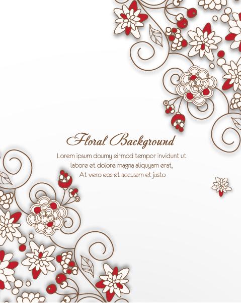 Beautiful decorative flower background vector