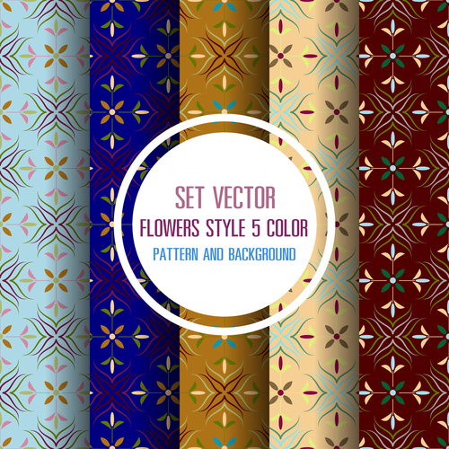 Beautiful flowers style seamless background vector