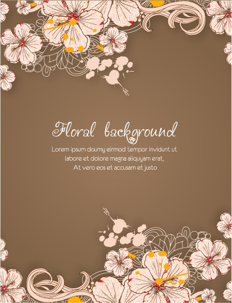 Beautiful spring floral background vector