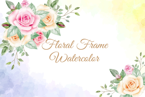 Beautiful watercolor painting vector background
