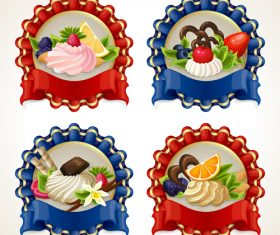 Beautifully decorated fruit plate vector