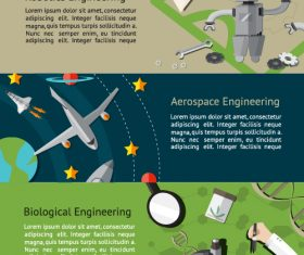 Biological engineering graphic banner vector