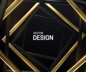 Black and golden frame background vector