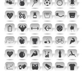 Black and white sport icon vector