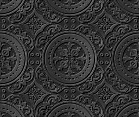 Black decoration 3d patterns in vector