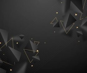 Black neumorphism design style vector