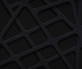 Black papercut stripes vector background