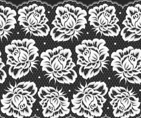 Blooming flower knitting pattern vector